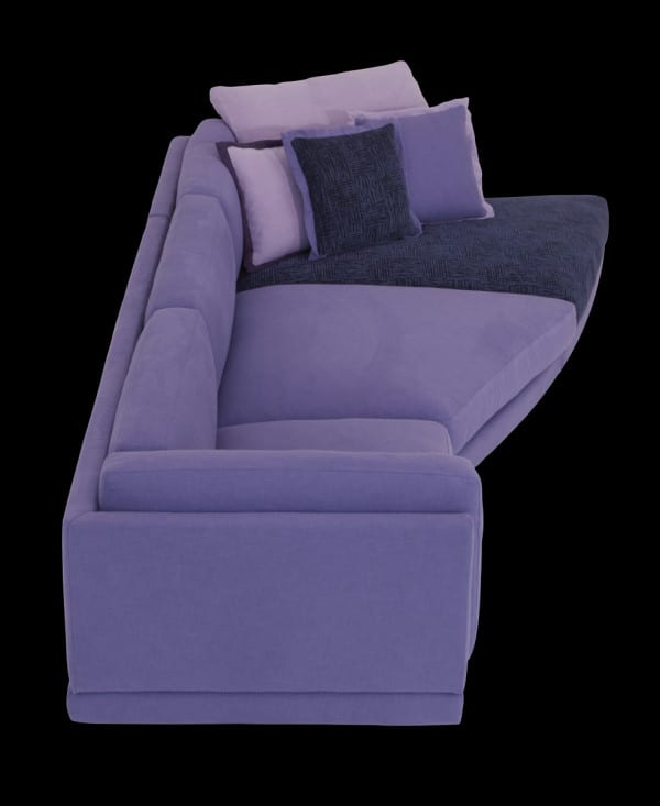 corner sofa with cushions by Il Loft