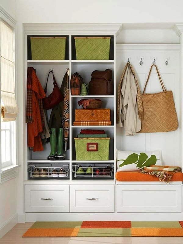 Keeping your mudroom organized