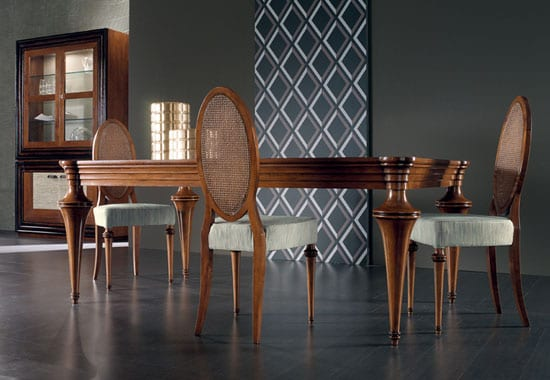 cantiero wood table designs