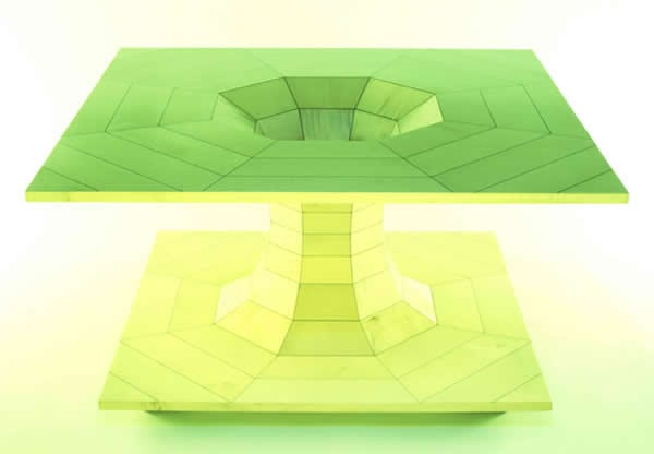contemporary lime table design