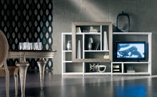 simplistic contemporary TV units
