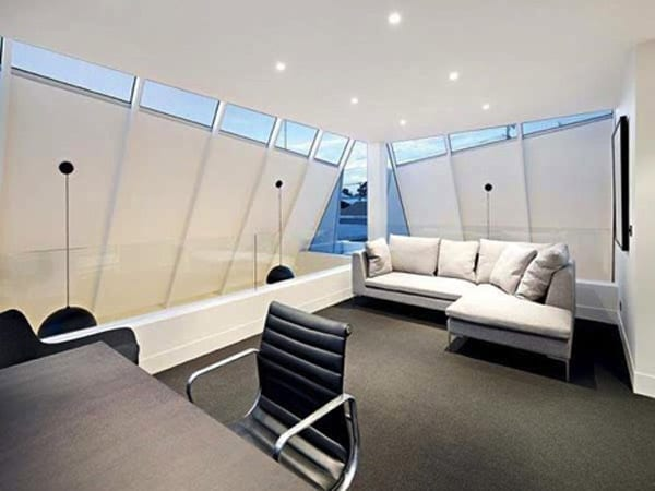 Home Office with Skylights