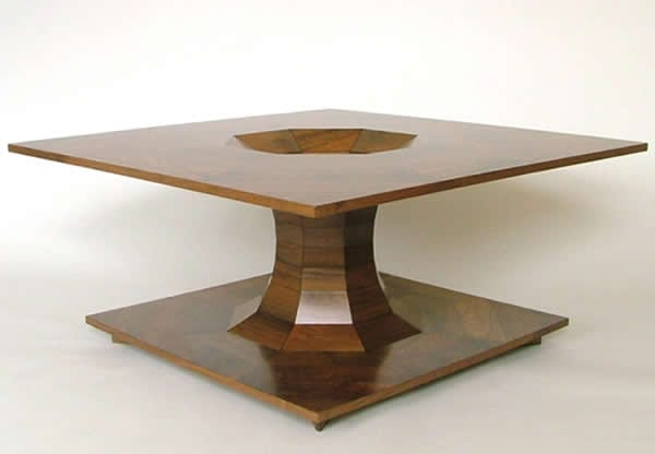 wooden table design by Fred Bayer