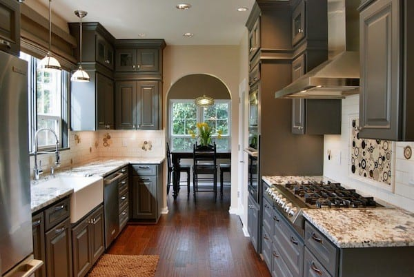 kitchen cabinetry brown color
