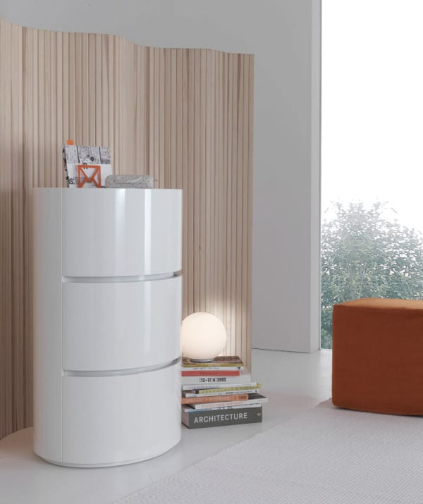 glossy chest of drawers