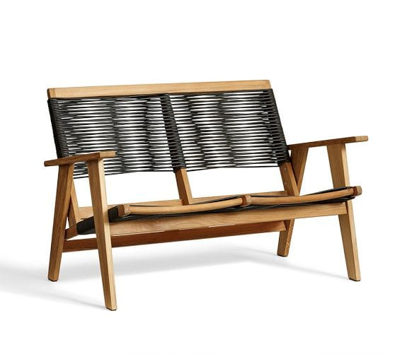 outdoor relaxation teak seat