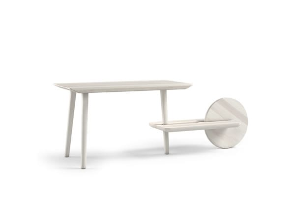 white unusual table design