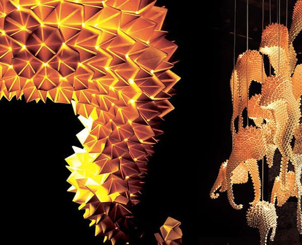 Dragons Tail Hanging Lamp