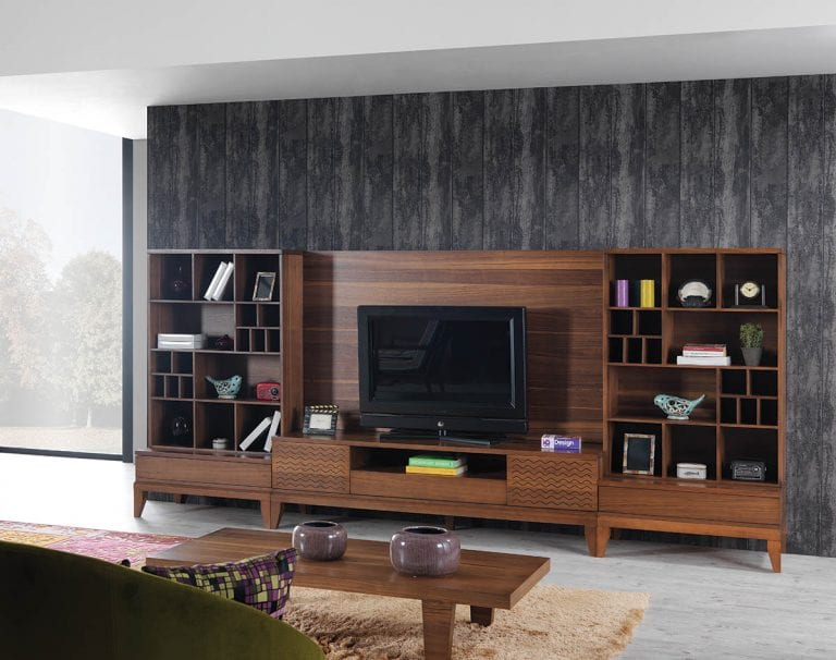 contemporary TV wall unit by N design