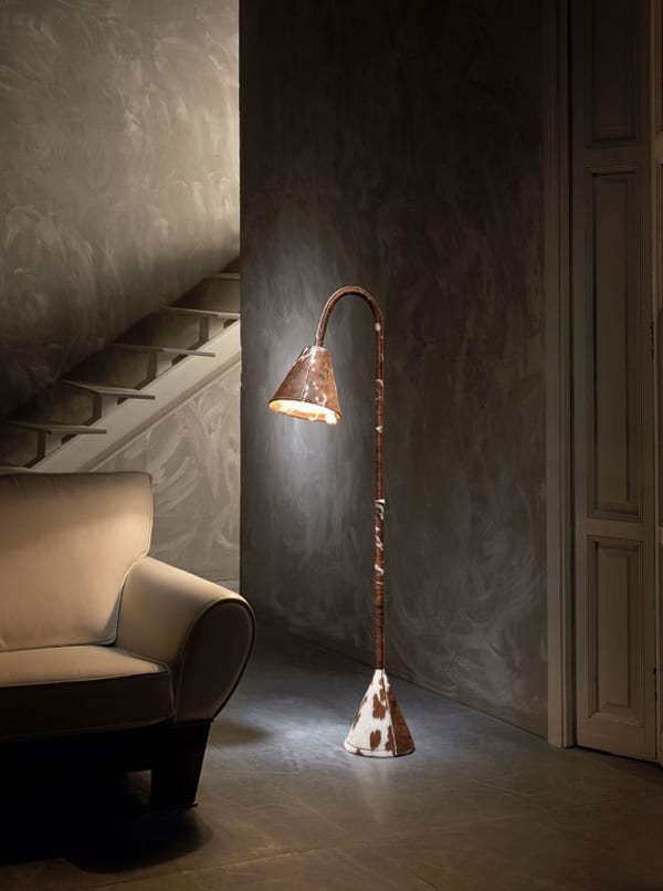 Lectura Cowhide Lamp by Valenti