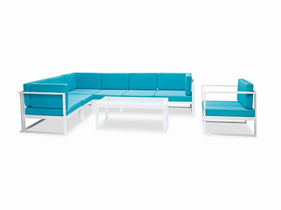 blue outdoor sectional