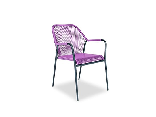 purple scandinavian chair
