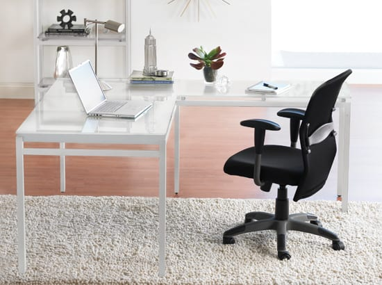 white scandinavian desk
