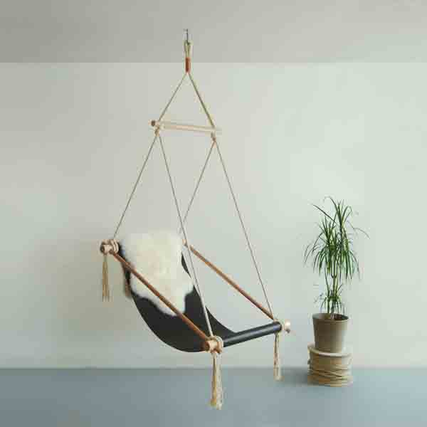 blue hanging chair