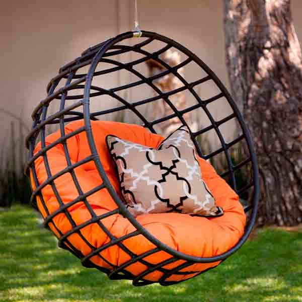 tangerine hanging chair