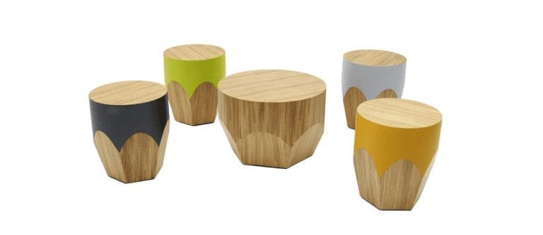 Pencil Stool by Paulo Antunes