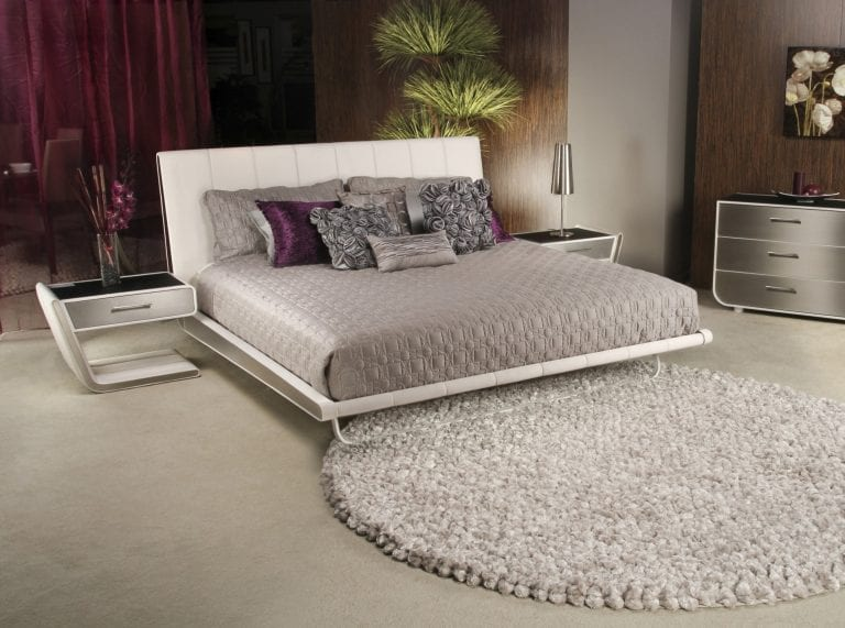 futuristic-white-leather-bed