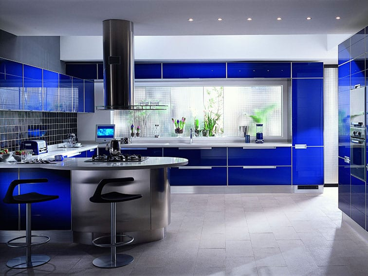 Blue-Modern-Kitchen-Design