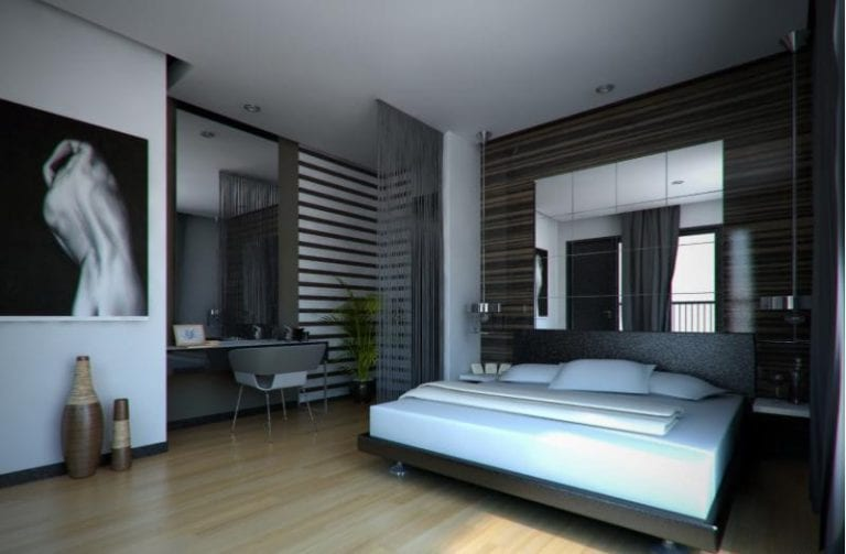 Contemporary Bedroom Design for a Man