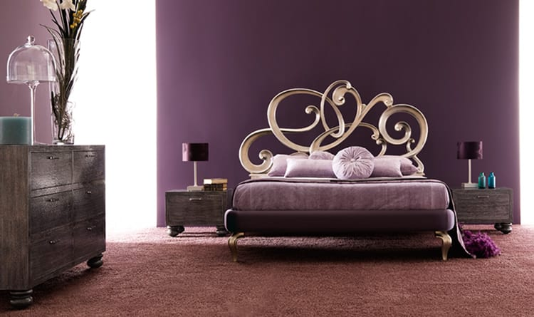 Cortezari elegance bed with purple headboard