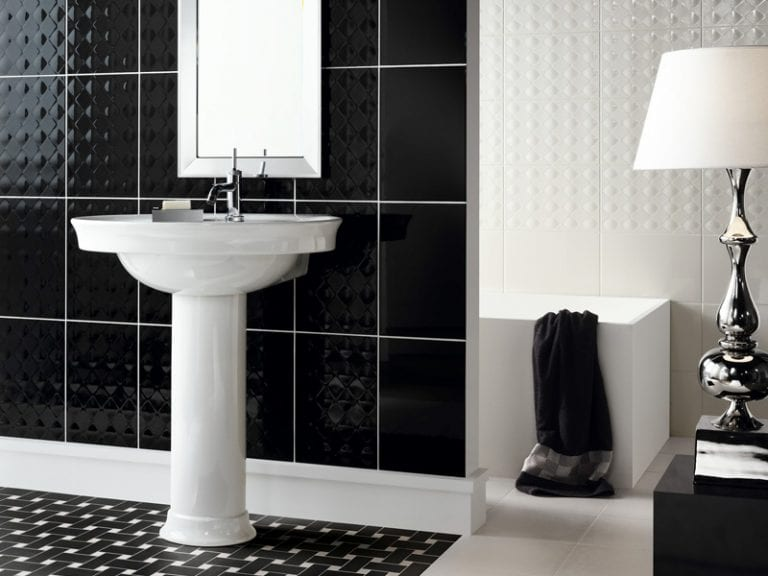 Beautiful black wall tiles by NovaBell