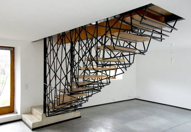 amazing iron compact staircase