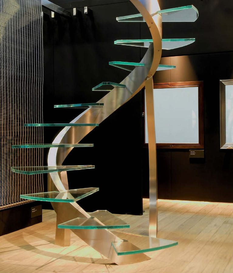 compact glass staircase