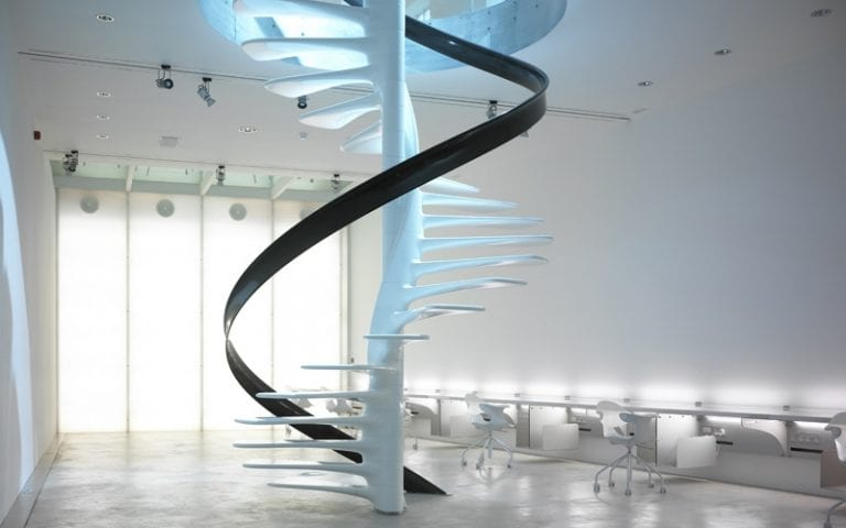 futurist Ross Lovegrove staircase