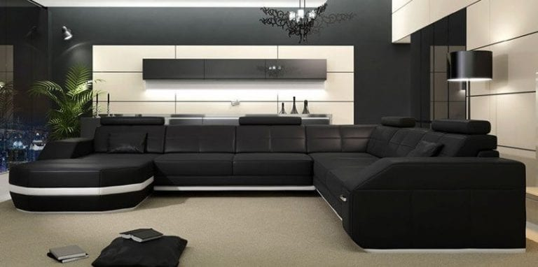 Large Black Sectional Couch