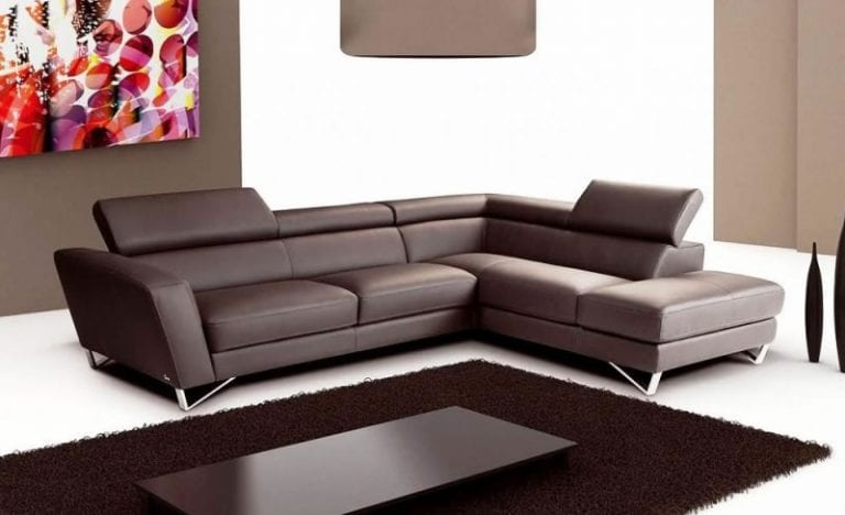 Sparta sectional brown reclining couch