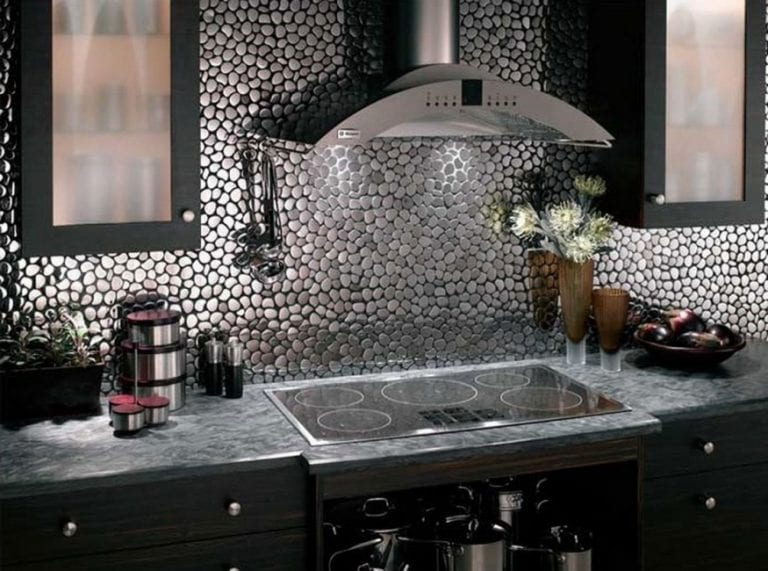 stainless steel kitchen backsplash design