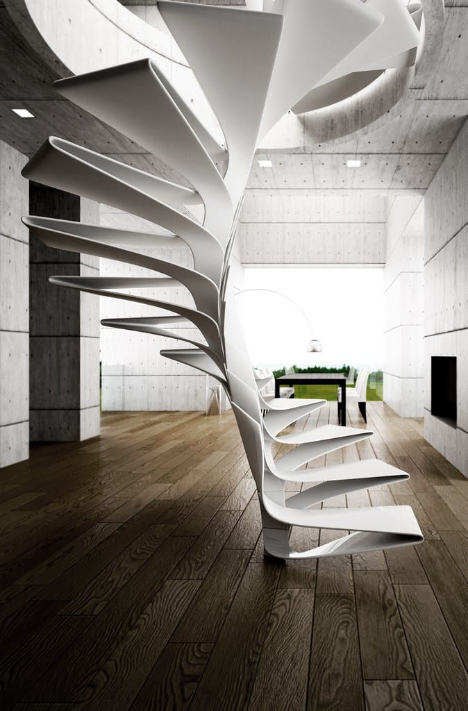 white staircase design ideas