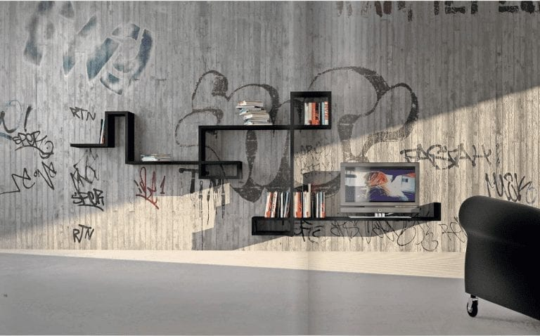 contemporary wall shelves