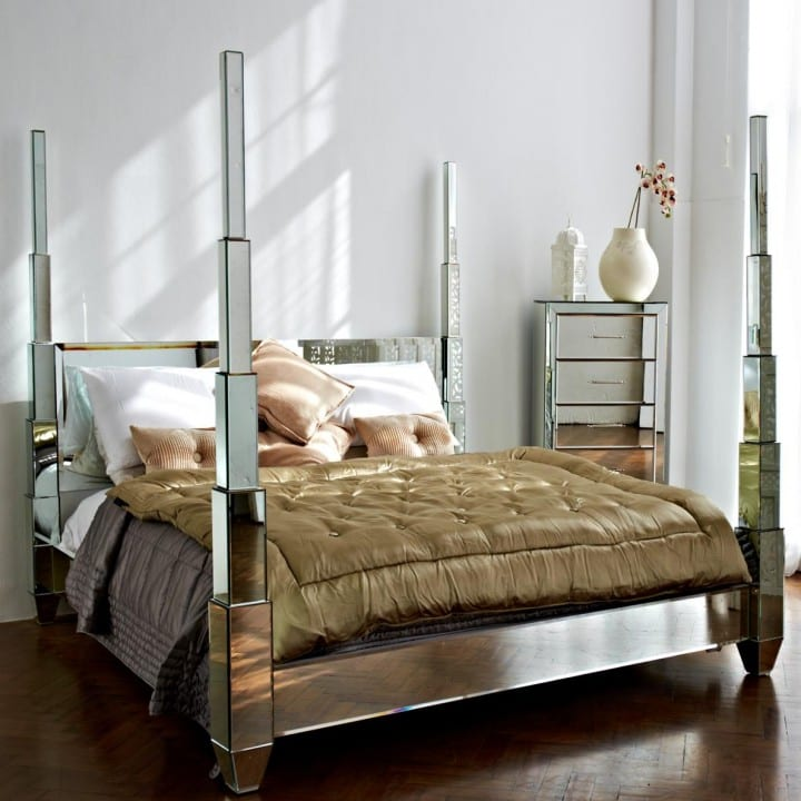 glass four poster beds