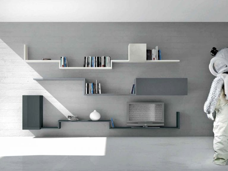super cool wall mounted shelves
