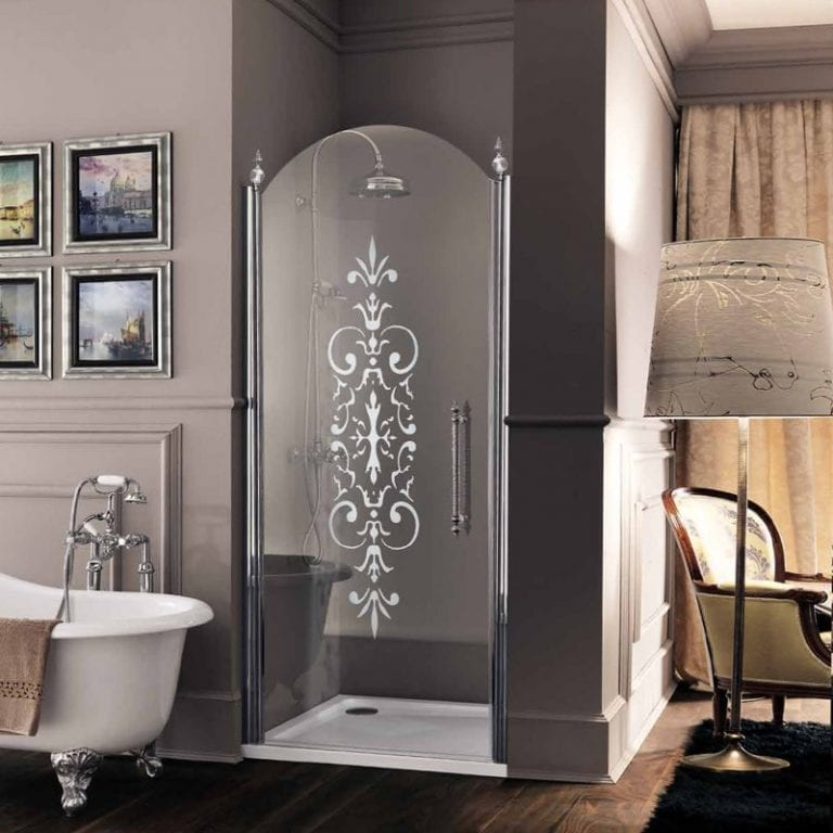 traditional glass shower door