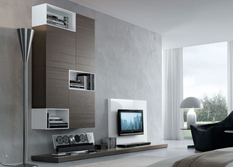 tv wall with storage