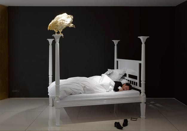 white four poster beds