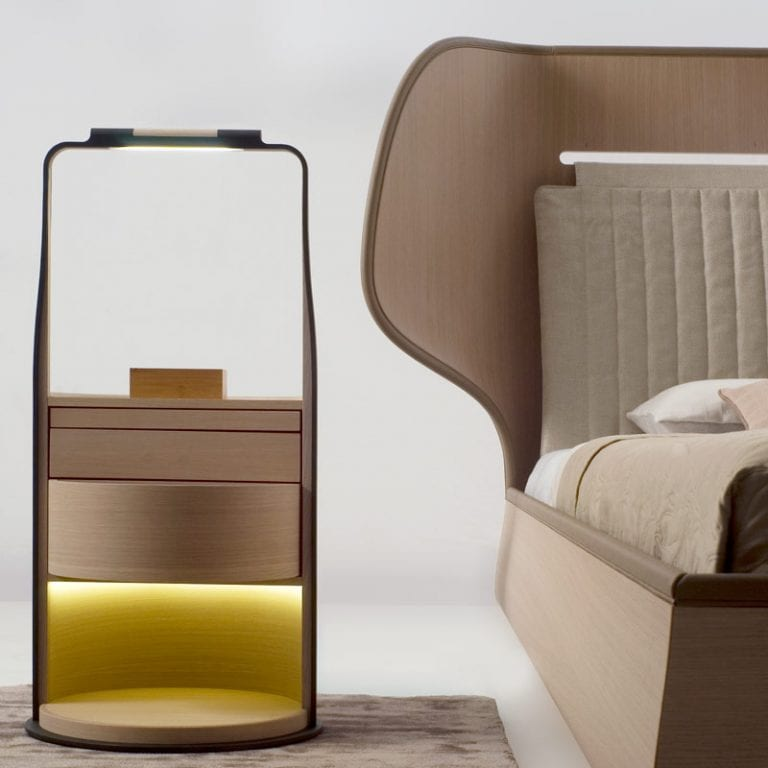 Modern Nightstand With Light