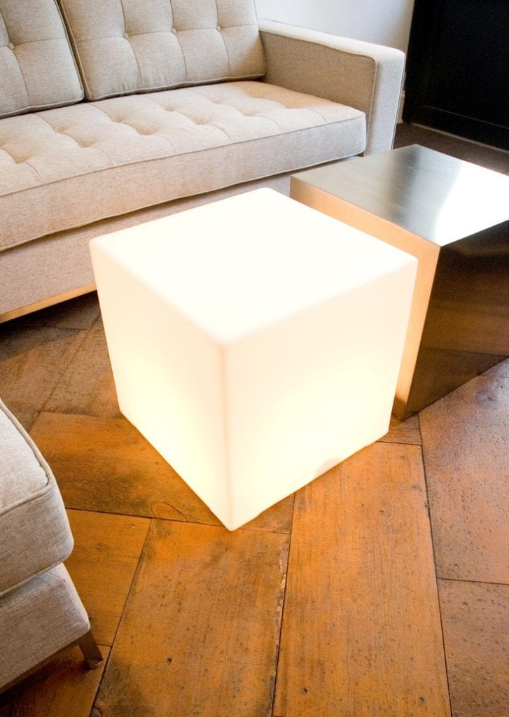 square cube accent tables