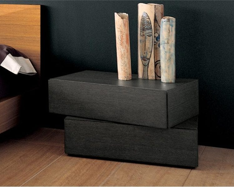 two drawer modern nightstands