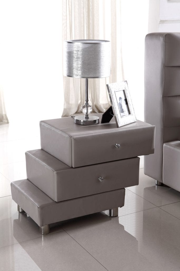 upholstered nightstand design