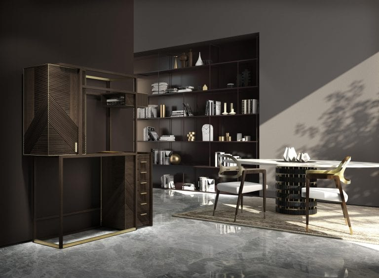 The Hampton display cabinet from Rossato