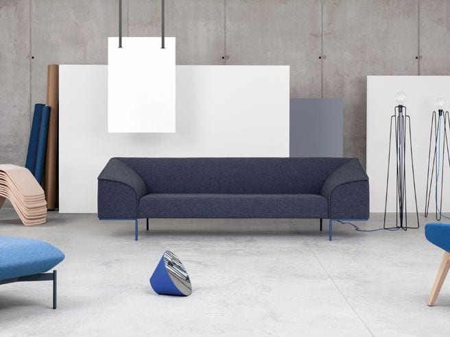 contemporary blue seating solutions