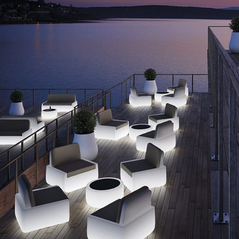 bold illuminated patio furniture