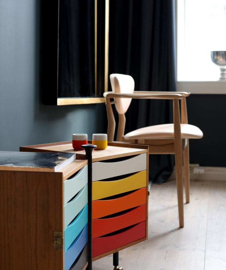 multicolored storage unit