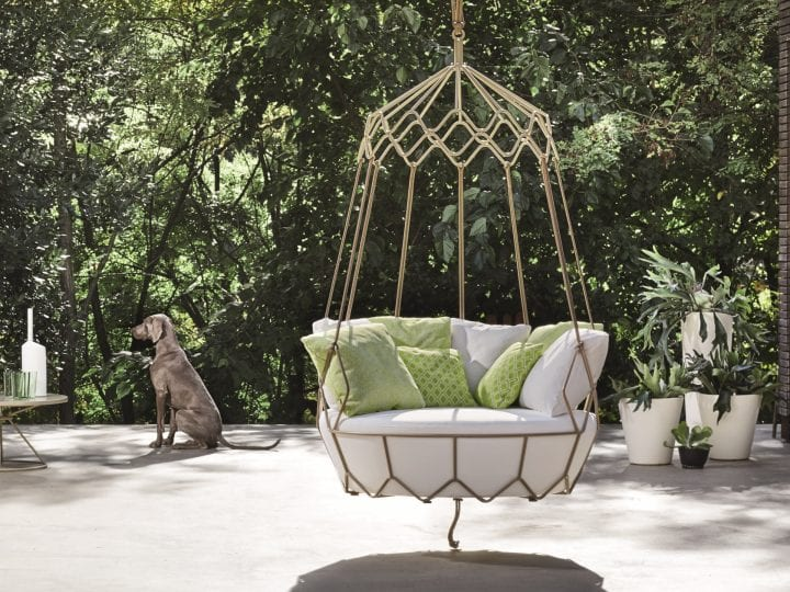 Roberti Rattan Outdoor Swing Sofa