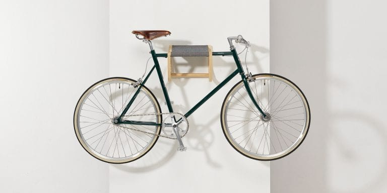 Rene, the Wooden Wall-mounted Bicycle Storage by Zilio Aldo
