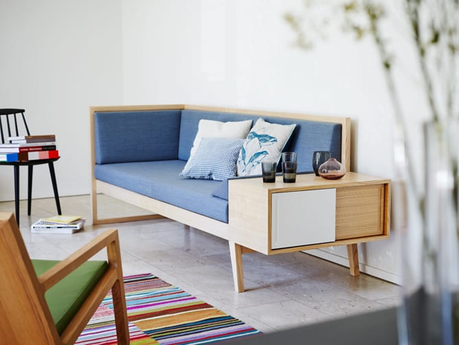 blue sofa bench design