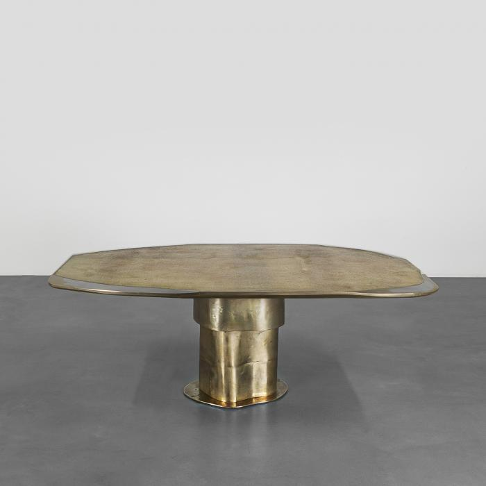 dining table from recycled materials